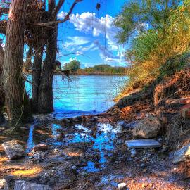 Down by the river by Bojan Bilas - Digital Art Places ( sava, nature, waterscape, ccr, zagreb, landscape, river )