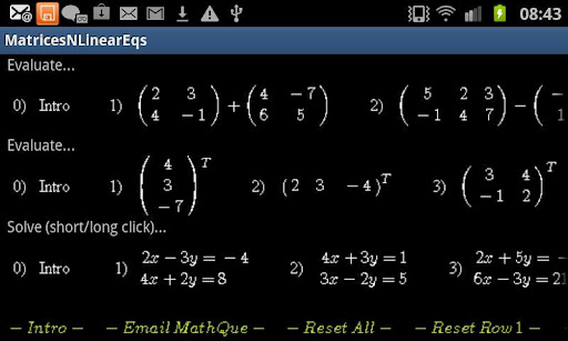 Matrices and Linear Equations