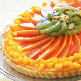 Cheesecake Tart with Tropical Fruits