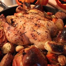 Fall Roasted Chicken with Apples & Sage