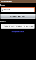 Screenshot of MD5 Generator