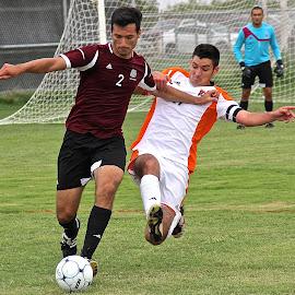 Tackle by Steven Aicinena - Sports & Fitness Soccer/Association football ( men, soccer )