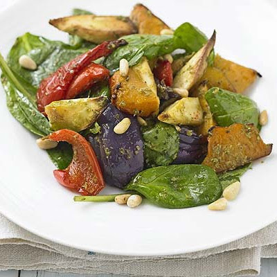 Warm Pesto Roast Veg