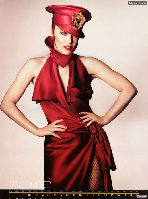 Kylie Minogue-Calendar 2009 Photos