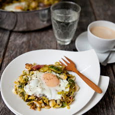 Brussels Sprouts Hash with Eggs