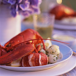 Lobsters with Tarragon Vermouth Sauce
