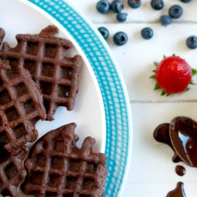 Mini Chocolate Waffles