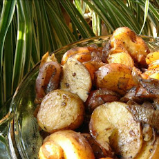 Balsamic Roasted Onions and Potatoes