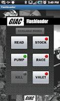 Screenshot of GIAC Flashloader Wireless App