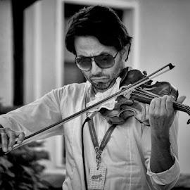 violinist by Dunja Kolar - People Portraits of Men ( violinist )