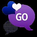 GO SMS - Night Sky Hearts icon