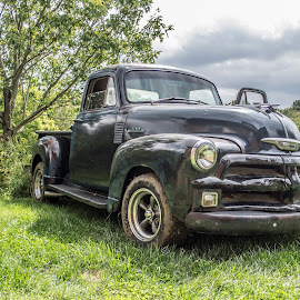 Old Truck by Becky Kempf - Transportation Automobiles ( old, truck, 1952, chevy )