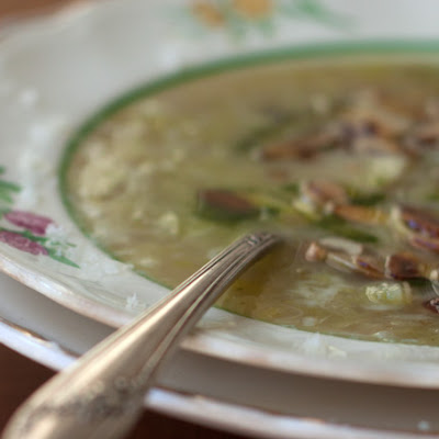 Leek Soup with Dill Oil