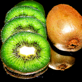 kiwi on the mirror by LADOCKi Elvira - Food & Drink Fruits & Vegetables ( kiwi )