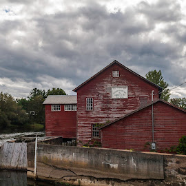 Old Mill by Matt Weaver - Buildings & Architecture Other Exteriors ( rally, mill, old, red, black river stages, new york, brs, race, xti, river )