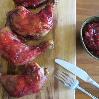 Cranberry-Glazed Roast Chicken