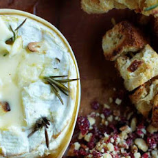 Beautiful baked Camembert