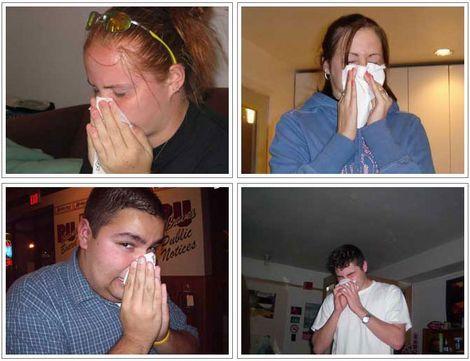 鼻をかむ人たちの写真を集めたアーカイブ
