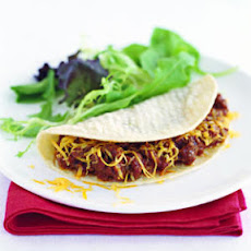 Sloppy Joes in Soft Corn Tortillas