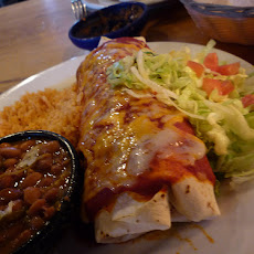 Steakhouse Burrito With Blue Cheese Caesar Salad