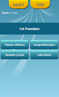 Screenshot of US Presidents Quiz