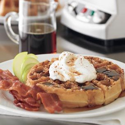 Spiced Apple Waffles