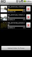Screenshot of PicasaVidUp Lite