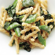 Pasta wtih Snap Peas, Basil and Spinach
