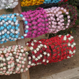Flower Bracelets by Donald Henninger - Artistic Objects Clothing & Accessories ( park, colorful, bracelets, vendor, sony alpha, historic district, display, jewelry, turkey, istanbul,  )