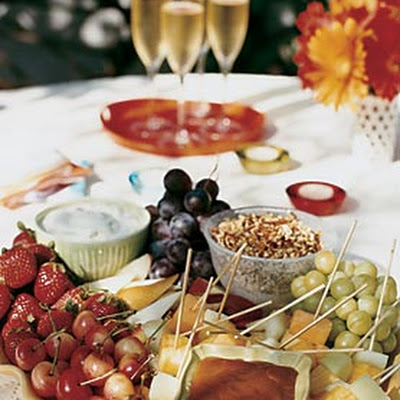 Summer Fruit with Praline Fondue