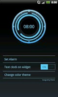 Screenshot of Digital Clock Disc Widget