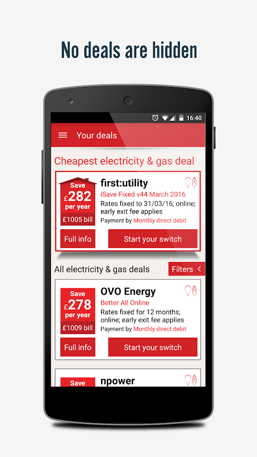 Voltz - energy switching app Screenshot 2