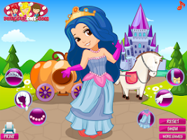 Screenshot of Princess Carriage Dress Up