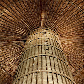 Round Barn Interior by Stephen Beatty - Buildings & Architecture Other Interior