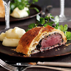 Mini venison Wellington with parsnip purée