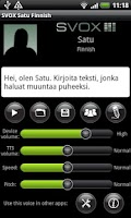 Screenshot of SVOX Finnish Satu Voice