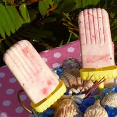 Creamy Raspberry Ice Pops