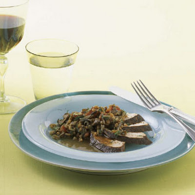 Porcini Chicken with Wild Rice and Wheat Berries