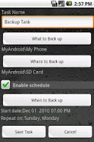 Screenshot of Handy Backup