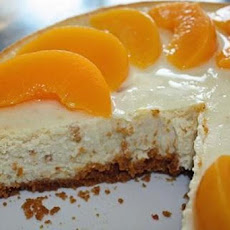 Carameled Peach Cheesecake