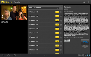 Screenshot of illico.tv Plugin