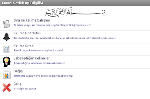Screenshot of Kuran-ı Kerim Kelime Ezberleme