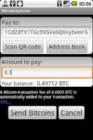 Screenshot of BitcoinSpinner