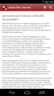 Journal of Health Geographics - screenshot