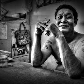 The Old Man by Lingga Wisnu - People Portraits of Men ( human )