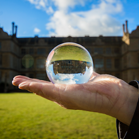 Montacute House by Shaun White - Artistic Objects Glass ( somerset, tv / movie set, stately home, montacute, national trust, house, refraction )