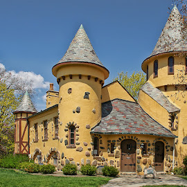 Curwood Castle by Luanne Bullard Everden - City,  Street & Park  Historic Districts ( owosso, history, michigan, curwood, castles, shiawassee, historic )