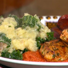 Chicken and Chorizo Romesco with Spanish Potatoes and Kale