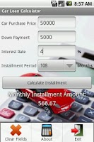 Screenshot of Car Loan Calculator