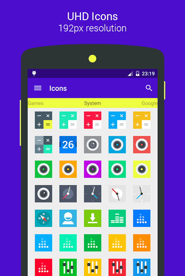 Goolors Square - icon pack Screenshot 2